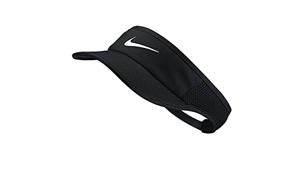 buy popular d8fc5 efaf0 Nike Women s W NK AROBILL FTHRLT Visor ADJ Hat, Black White, One Size   Amazon.co.uk  Sports   Outdoors