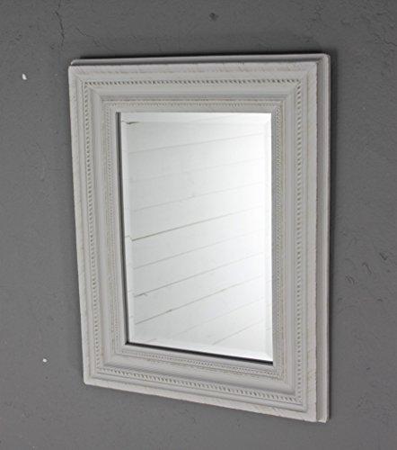 elbmöbel Specchio da parete bianco antico di legno fatta da parete ...