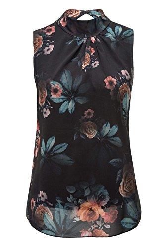 Hailys Damen Top Blusentop Sommerbluse mit Print Black M
