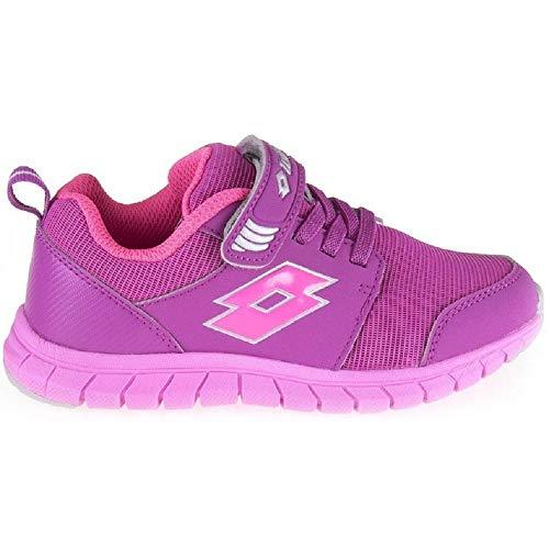 Lotto Scarpe da Tennis bambini, Rosa (Violett (Purple Jam/Gloss Fluo)), 31 EU