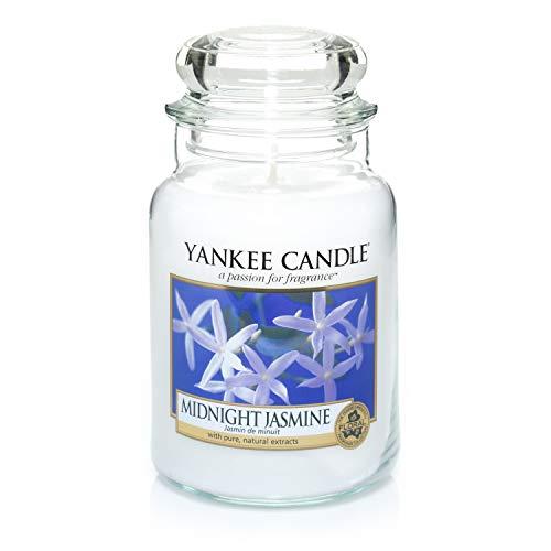 Yankee Candle Duftkerze im großen Jar, Midnight Jasmine, Brenndauer bis zu 150Stunden