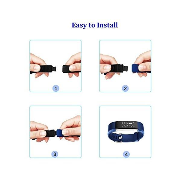 YiYunte ID115Plus HR - Correa de repuesto ajustable de TPU para pulsera inteligente 115 Plus HR Fitness Trackers 7