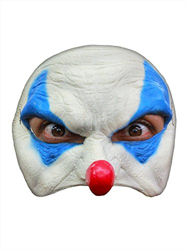 Böser Clown Halloween Latex Maske Halbmaske weiss (Böser Halloween Clown)