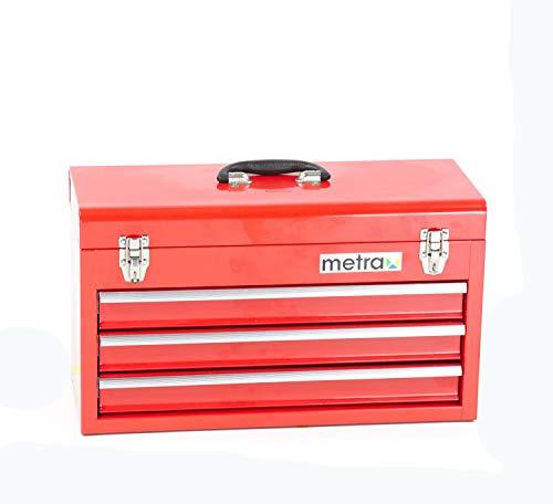 Werkzeugkiste, standard, 3 Schubladen, rot