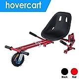 Hehilark Hoverboard Kinder, Zwei Runden Verstellbar Sitz (70-100cm) Hoverkart für E-Scooter Sitz GoKart Sitzscooter | Einfache Montage| Stabiler Rahmen -Rot