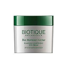 Biotique Bio Morning Nectar FLAWLESS LIGHTENING EYE CREAM SPF 30 UVA/UVB SUNSCREEN, 15G