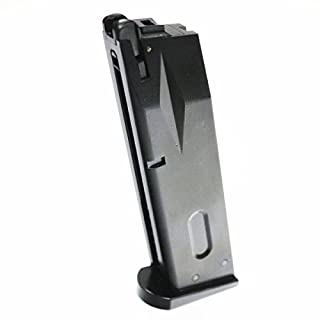 Airsoft WE 25rd Gas Magazine for WE/Toyko Marui/KJW M9 M92 M92F GBB Black MAG-1174