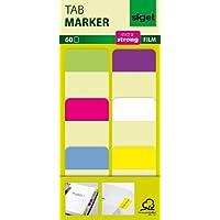 Tab Marker Film Adhesivo Marcadores Extra Fuerte 25 x 38 mm 60 hojas de limón/color de rosa/azul / púrpura/blanco / amarillo