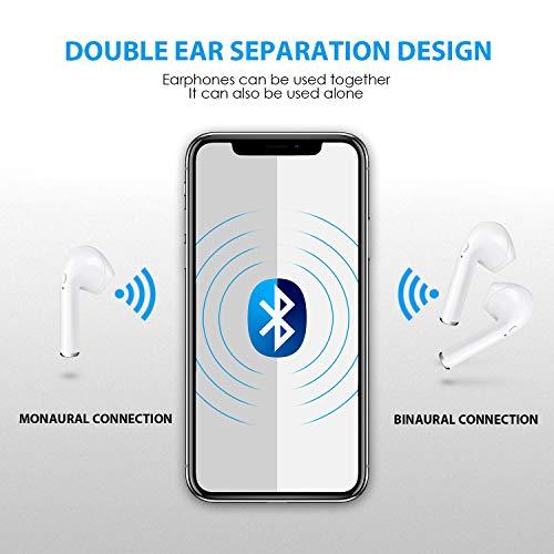 Bluetooth-Kopfhörer Drahtlose Ohrhörer Mini-Größe Im Ohr mit Mikrofon und Ladestation, Drahtlose Headsets Kompatibel mit iPhone Android-Handys(12 Stunden Spielzeit, HD-Stereoton, Rauschunterdrückung) - 6