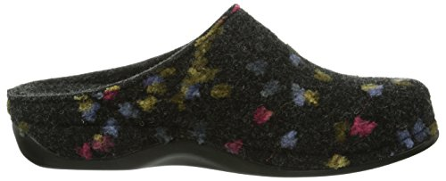 Berkemann Damen Donata Pantoffeln Mehrfarbig (grau Tupfen 914)
