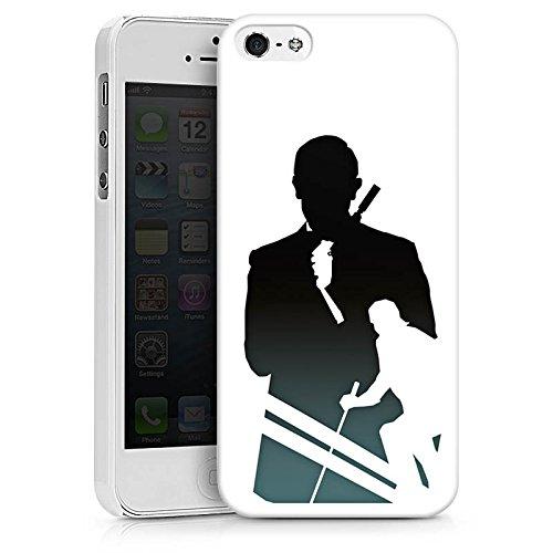 Apple iPhone X Silikon Hülle Case Schutzhülle James Bond Filme Hard Case weiß