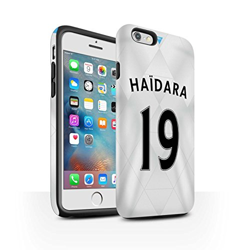 Offiziell Newcastle United FC Hülle / Matte Harten Stoßfest Case für Apple iPhone 6+/Plus 5.5 / Pack 29pcs Muster / NUFC Trikot Away 15/16 Kollektion Haïdara