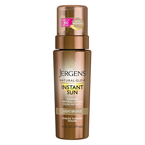 Jergens Natural Glow Instant Sun Sunless Tanning Mousse, Light, 6 Fluid Ounce by Jergens -