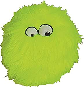 goDog Just for Me Furballz with Chew Guard Tough Plush Dog Toy, Lime, Small