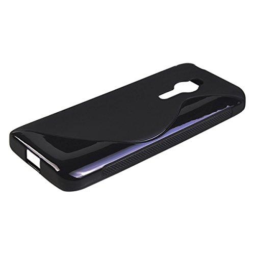 COOLKE Gel TPU Silicone Soft Schutzschale hülle Case Cover für Nokia Asha 230 - Schwarz