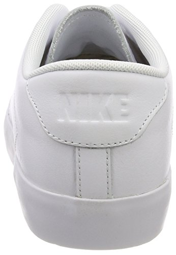 Nike All Court 2 Low Leather, Sneakers Basses Homme Blanc (White/white-black)