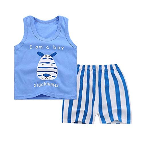 Baby Kleidung Set Jungen Ärmellos Tshirt Bluse Tank Top + Hosen Weste Anzug Ärmellose Kinderweste + Shorts zweiteilig