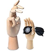 """scoolr madera articulada izquierda/derecho mano hombres mujeres mano de madera maniquí para arte dibujo figura maniquí modelo 7""""/18cm Right Hand"""