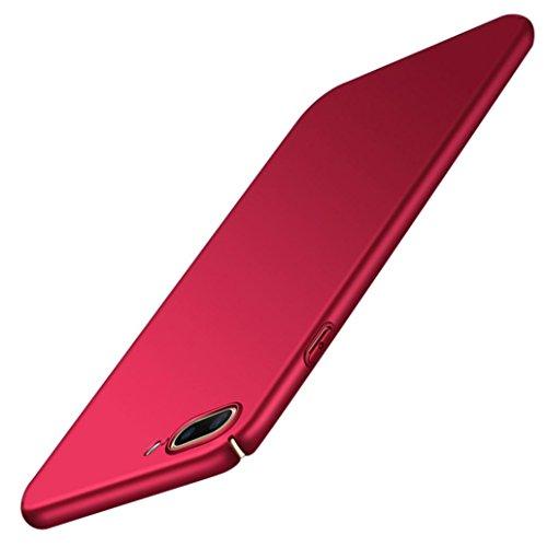 Ouneed® Für iPhone 8 plus 5.5 Zoll Hülle , Luxus Anti-Scratch Hochwertigem Hülle Fein Matt Stoßfest Schutz Hard Case Cover für iPhone 8 plus 5.5 Zoll (Rot) Rot