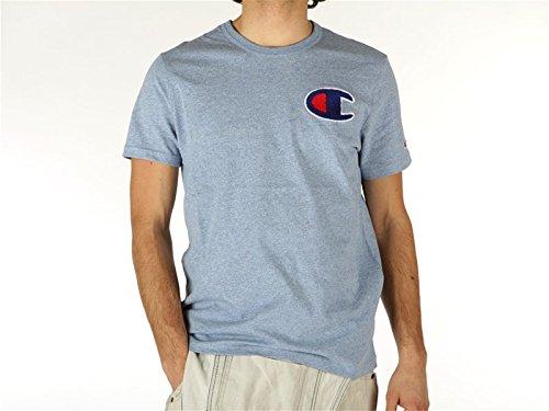 Champion, Uomo, T-Shirt JP Jersey AA-Reverse Weave, Cotone, T-Shirt, Blu, M EU