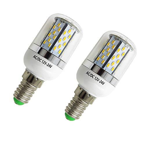 AIYOWEI E14 5W LED Glühbirne Maisbirne mit Abdeckung 78-3014 SMD AC / DC 12 V-24 V explosionsgeschützte Kerzenlicht Weiß 6000 Karat (Pack 2) -
