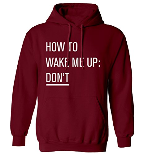 Flox Creative How to Wake Me Up: Nicht Hoodie XS - 2 X L Gr. XX-Large, kastanienbraun (Funny Adult Christmas Pyjamas)