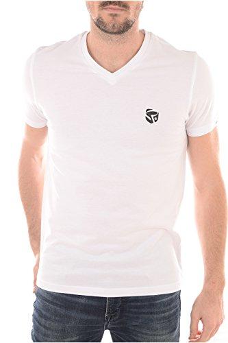 Redskins -  T-shirt - Collo a V  - Maniche corte  - Uomo bianco 42