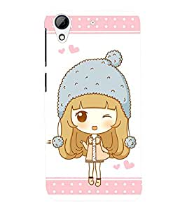 Printvisa Premium Back Cover Animated Sweet Winking Girl Design For HTC Desire 626::HTC Desire 626G Plus::HTC Desire 626G+