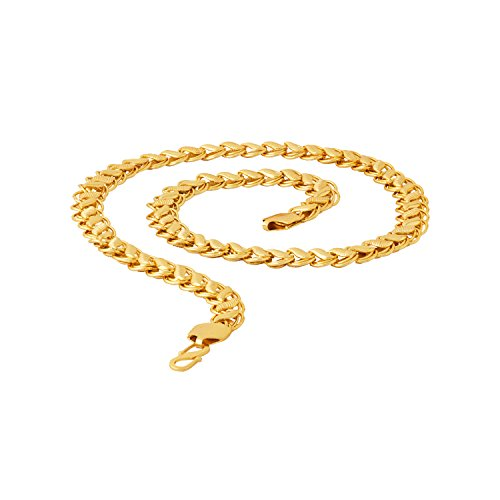 Voylla Chain Necklace for Men (Golden)(8907617317724)