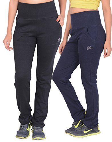 sweekash women's Cotton Track pants (Combo Pack of 2)