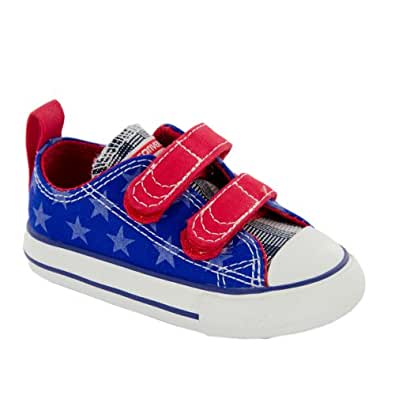 Converse All Star Oxford V2 Toddler Boys Canvas Shoes Blue/Red/Stars UK 5 Infant