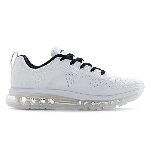 Onemix Air Sneakers Da Uomo Da Donna Scarpe Da Corsa New Wave Con Cuscino Daria Da Corsa Bianco