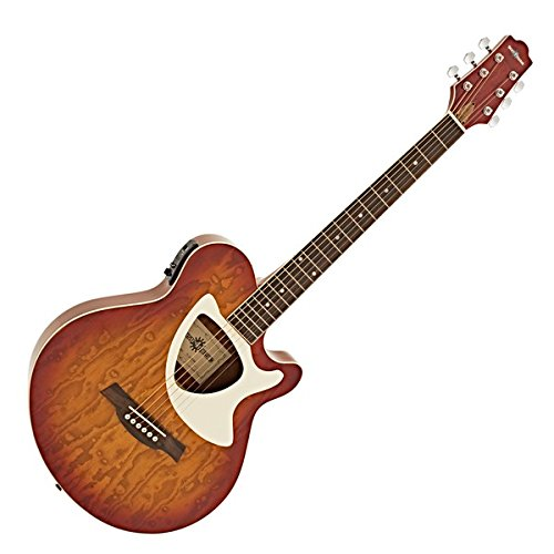 GUITARRA ELECTROACUSTICA DELUXE THINLINE DE GEAR4MUSIC   CHERRY SB