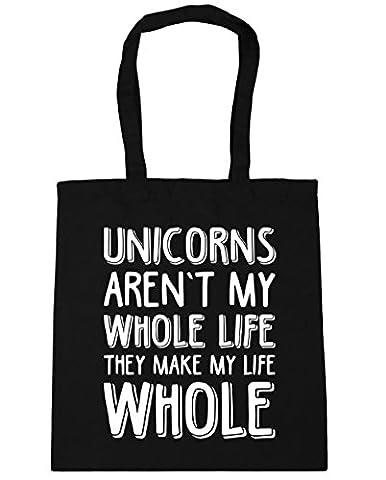 hippowarehouse Licornes ne sont pas toute My Life Ils Make My Life Ensemble sac à shopping/Sac de plage 42cm x38cm, 10litres - noir - Taille unique