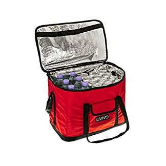 Fineway Extra Large 30 Litre 60 Can Insulated Cooler Cool Bag Collapsible Picnic Camping 5