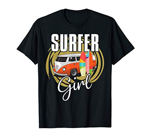Surfer Girl Shirt (Surfer Girl T-Shirt Women Ladies Female Surfing Shirt)