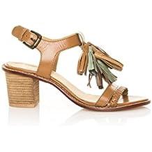 MTNG 94440 Vaqueta Cuero - Sandalias Para Mujer, Color Cuero, Talla 39 amazon-shoes el-marron Cuero