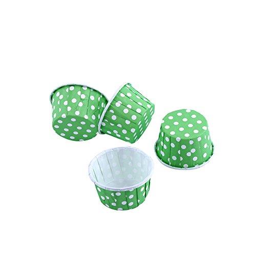 100er Cupcake Förmchen Papier Kuchen Cupcake Liner Fall Wrapper Muffin Baking Cup für Party Hochzeit Weihnachten 7 Farben(Grün)
