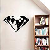 Fushoulu 49X30 CmNeue Design Diamant Vinylwandaufkleber Kinderzimmer Wohnkulturedelstein Schmuck Werkstatt Shop Decals Abnehmbare 3D Aufkleber
