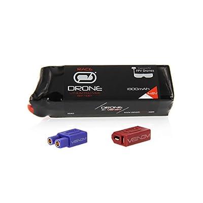 Venom 75C 4S 1800mAh 14.8V Drone Racing LiPo with Universal 2.0 Plug (XT60/Deans/EC3)