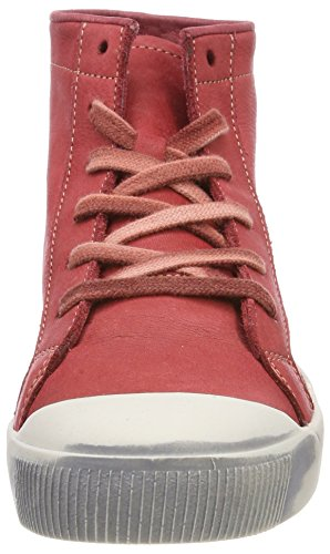 Softinos Kip448sof Washed, Sneaker a Collo Alto Donna rosso (rosso)