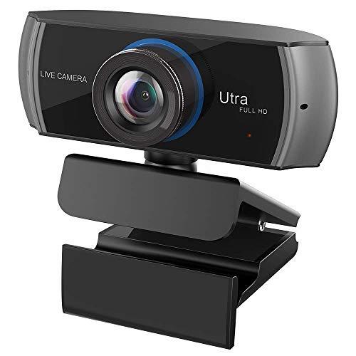 Full HD Webcam 1080P/1536P, Breitbild-Video-Anruf und -Aufnahme, Webkamera mit Mikrofon, Stream-Cam für PC, Laptops und Desktop.