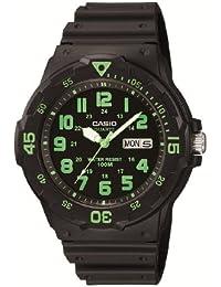 Casio MRW-200H-3BVEF - Reloj analógico de cuarzo para hombre con correa de resina, color negro