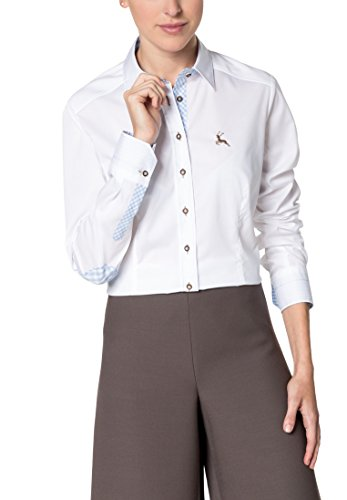 ETERNA long sleeve Blouse SLIM FIT uni Bianco