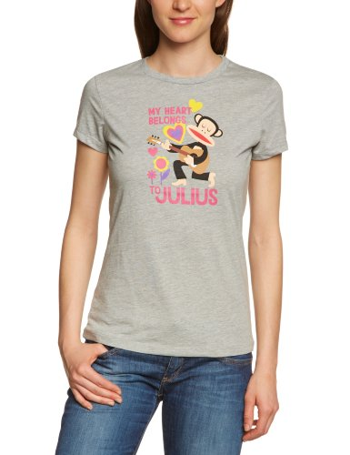 Paul Frank Julius My Heart Belongs To 130 Shirt pour femmes gris - Gris