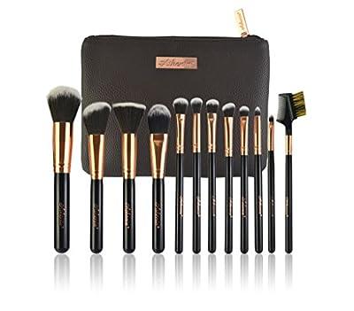 Athenia Professional 12 Piece Make up Brush Set - Make up Brushes in Luxury Cosmetic Case