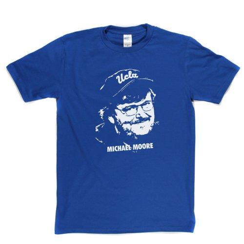 Michael Moore American Filmmaker Documentry TV Star T-shirt Königsblau