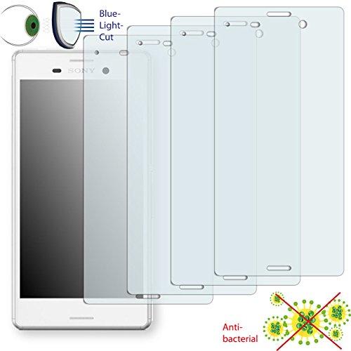 4 x DISAGU ClearScreen Displayschutzfolie für Sony Xperia M4 Aqua anti-bakteriell, BlueLightCut Filter Schutzfolie