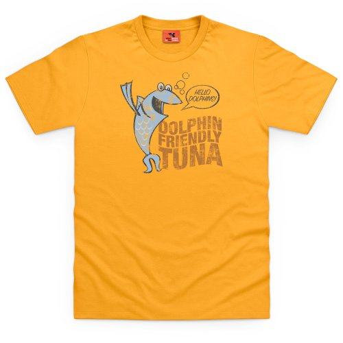 General Tee Dolphin Friendly Tuna T-shirt, Uomo Giallo