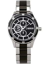349e249b852b Morgan M1080B - Reloj analógico de Cuarzo para Mujer con Correa de Acero  Inoxidable